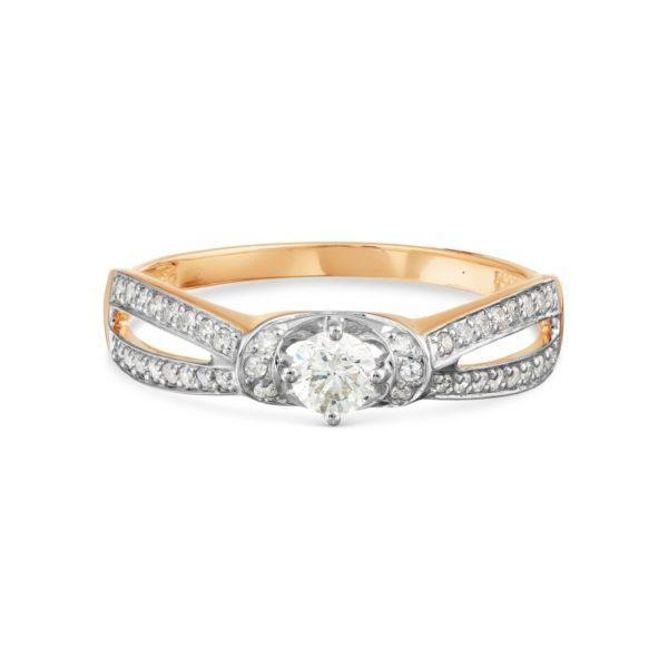 Кольцо из золота 585 с бриллиантами