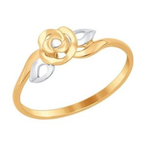 Кольцо Золото 585 с фианитами