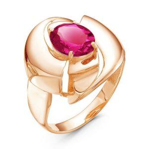 Кольцо с Гранатом в золоте 585