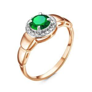 Кольцо с Турмалином в золоте 585